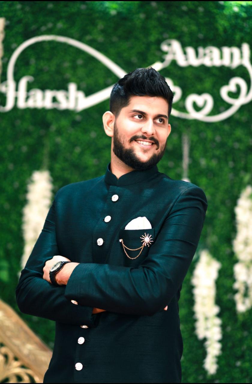 Manav Ethnic Happy Customer wearing Dark Green Indo-Western